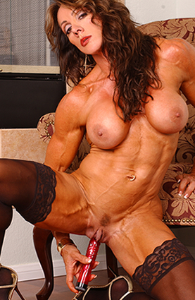 Naked female bodybuilder sex, hardcore girl solo