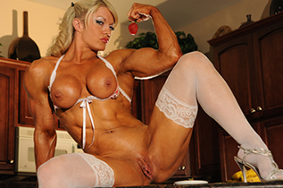 Bodybuilders lisa and wanda lesbian love part 2 1